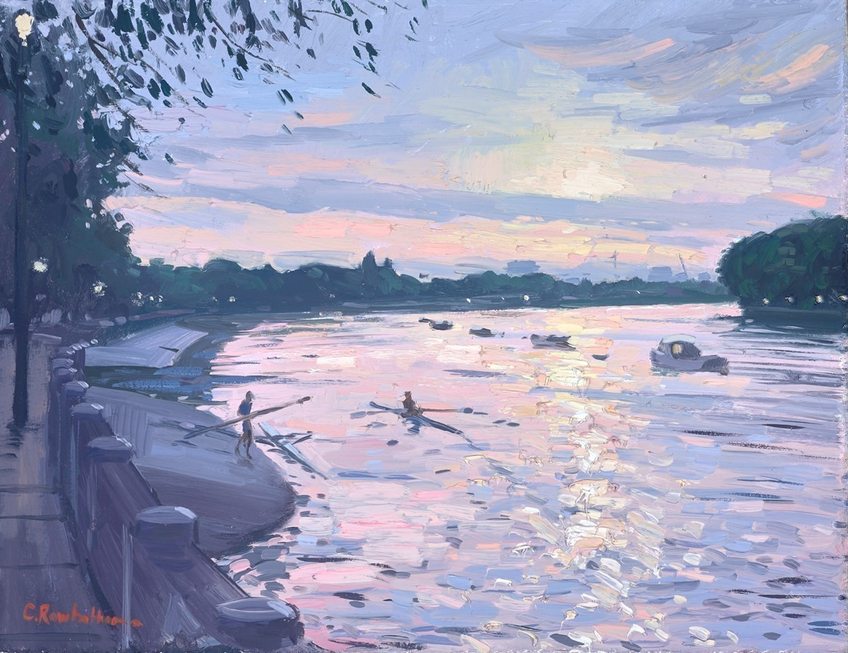 Rowers at Sunset, Putney Bridge